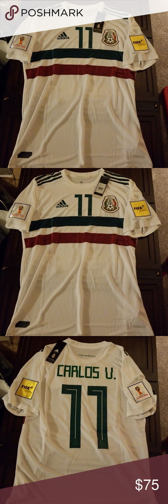 buy online 26e30 11484 Adidas men's Mexico soccer team home away Jersey Authentic ...