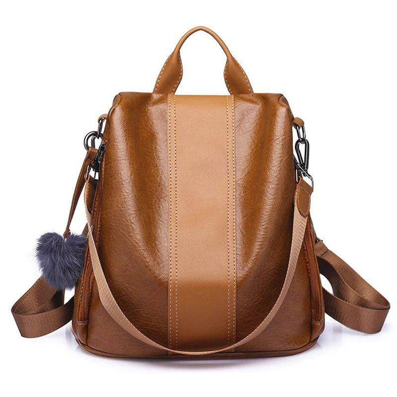 Women Backpack Fashion Causal Bags Bead Female Shoulder Bag PU Leather Backpacks For Girls Mochila