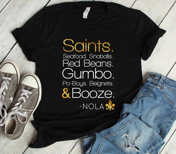 Wholesale Womens New Orleans Saints Shirts Saints Seafood Snoballs Nola  hot sale