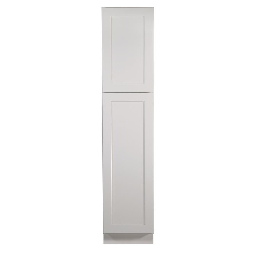 745a3c05588c Brookings 18 in. x 24 in. x 84 in. Unassembled Shaker Style 2-Door Pantry  Cabinet in White