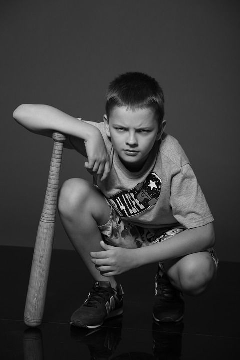 Photo of Pixabayの無料画像 – 少年, ティーン, 男子生徒, ビット, スクワット, 野球バット