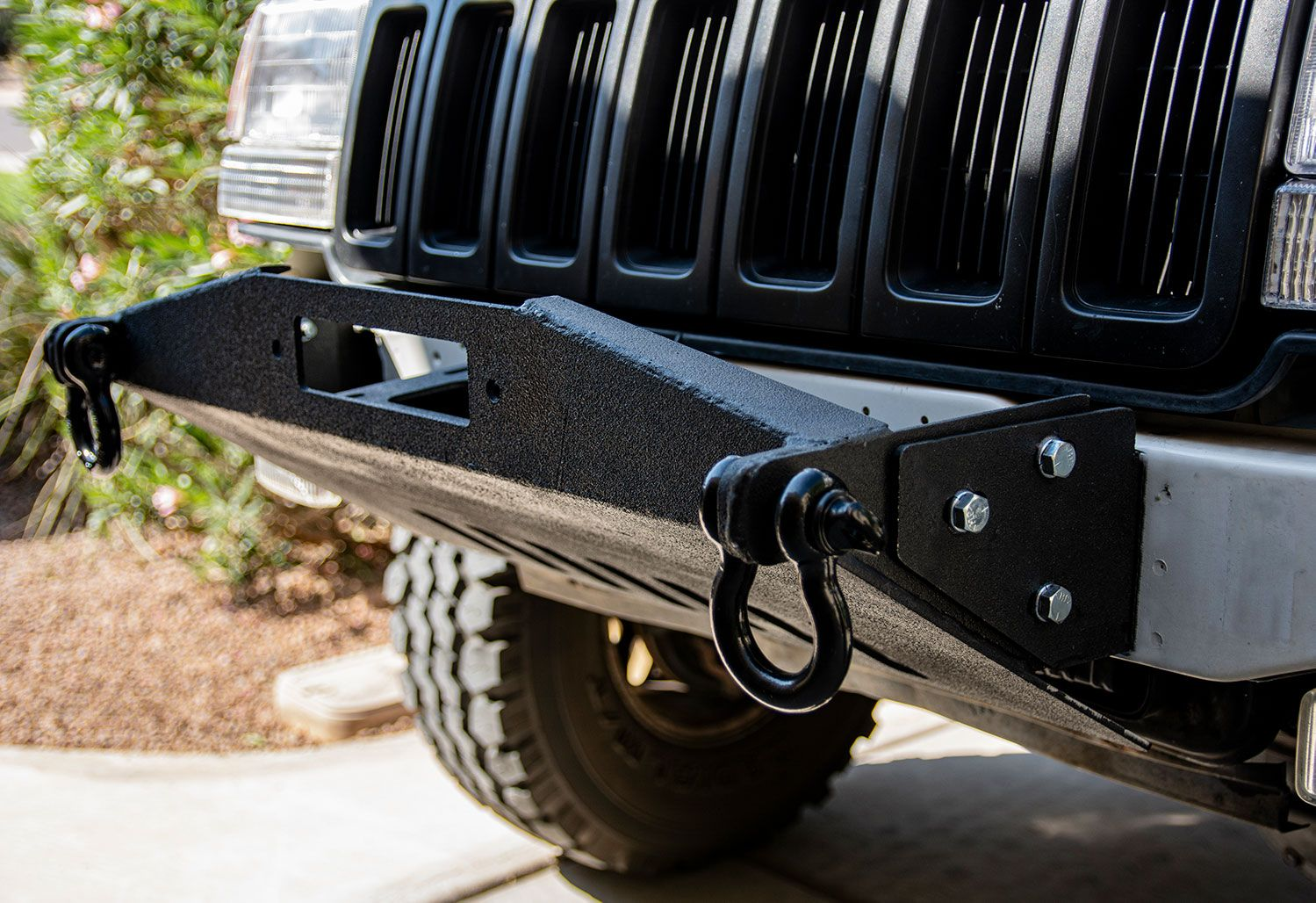 93 98 Zj Stubby Front Winch Bumper Winch Bumpers Jeep Bumpers