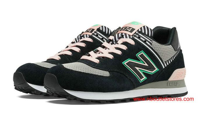 New Balance 574 Palm Springs Black Grey Pink Made in USA $69.00 ...