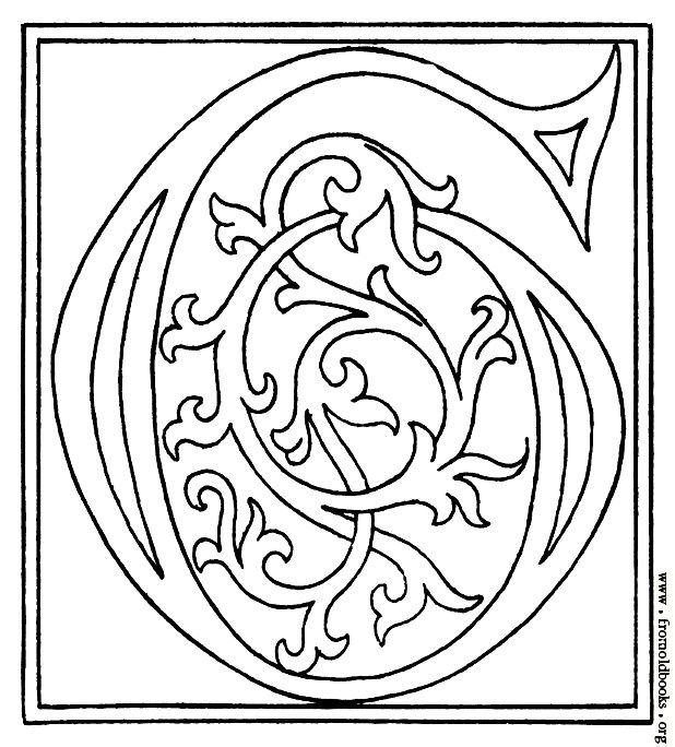 Clipart Initial Letter G From Late Th Century Printed Book