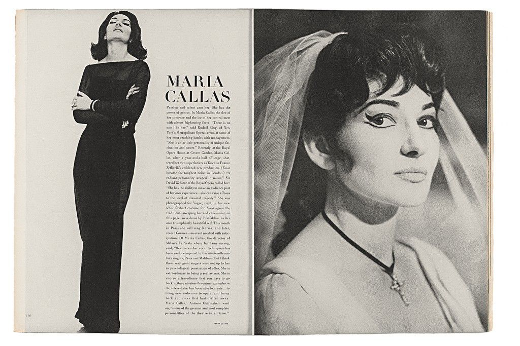 Diana vreeland firing up the legacy maria callas and opera - Casta diva vintage ...