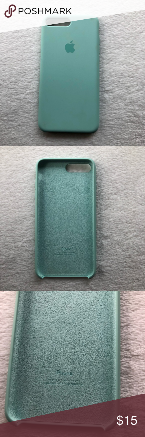 hot sale online fc27a 82190 Apple || Marine Green Silicone iPhone 7+|8+ Cas Apple || Marine ...