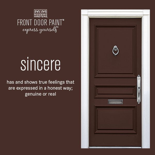 Sincere Is A Rich, Deep Brown Color From Our Front Door Paint Collection.  Click The Link To Find Out More About All 24 Colors Of Our Amazing,  Non Fade Front ...
