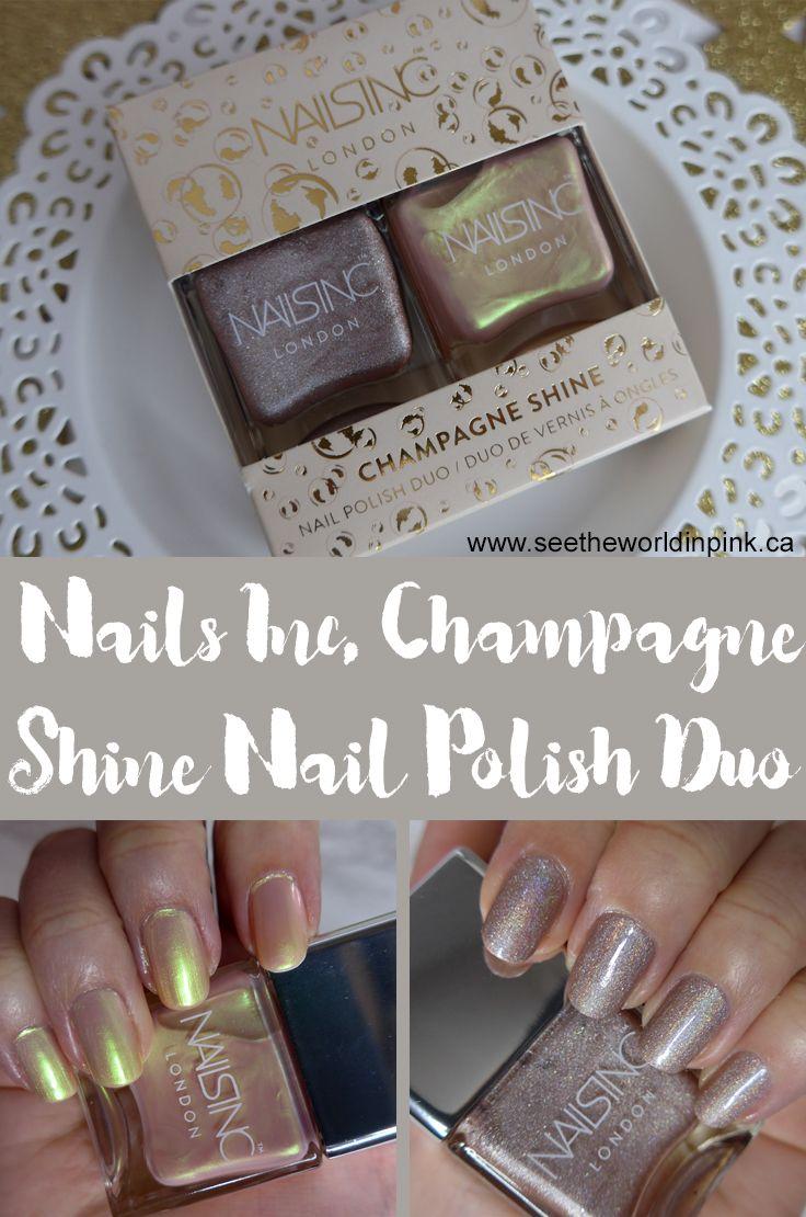 Manicure Tuesday - Nails Inc. Champagne Shine Nail Polish Duo \