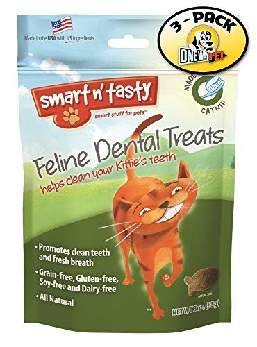 Smart N Tasty Grain Free Catnip All Natural Feline Dental Treats Pack Of 3 Click Image To Review More Details This Dental Treats Chicken Flavors Free Cats