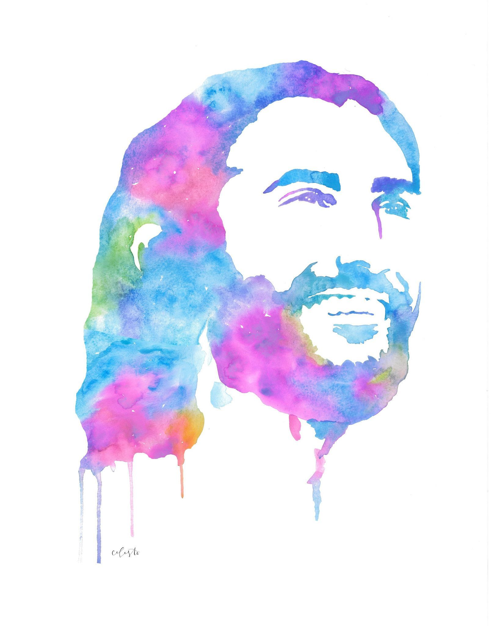 Jesus Christ The Savior Cool Tones Jesus Painting Jesus Art