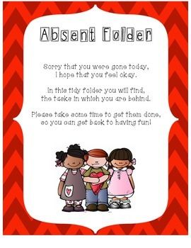 ABSENT FOLDER - TeachersPayTeachers.com