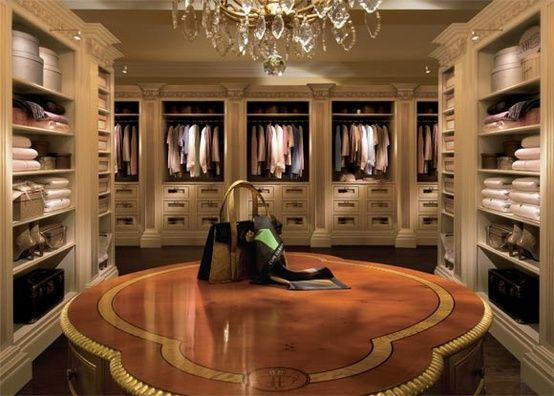 Beautiful Walk In Closets amazing walk in closet with gorgeous island dresser. | walk-in