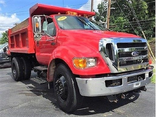 GENUINE FORD F650 DUMP TRUCK / FISHER PLOW / MYERS HYDRAULIC ... on