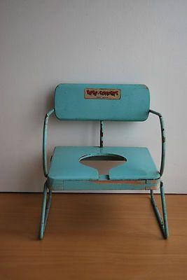 Ancienne Chaise En Bois Et Mtal Jouet Pour Baigneur Ou Poupe De La Marque