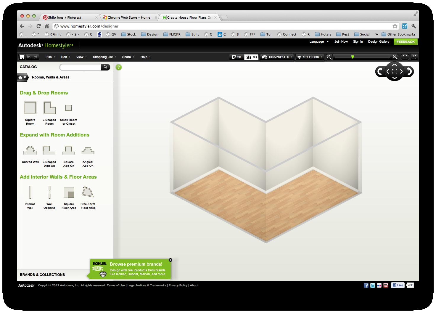 Web Based Home Design In Google Chrome 3d Home Design Software