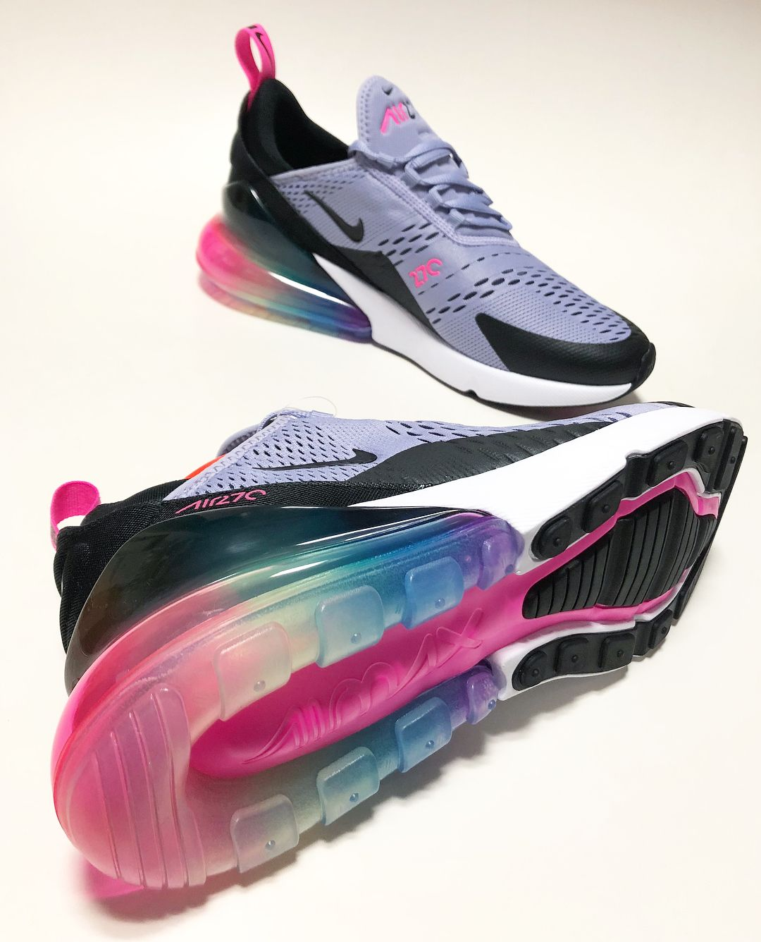 11918876ba0efb Summer 2018   AR0344-500 NIKE AIR MAX 270 BETRUE Purple Dawn Black ...
