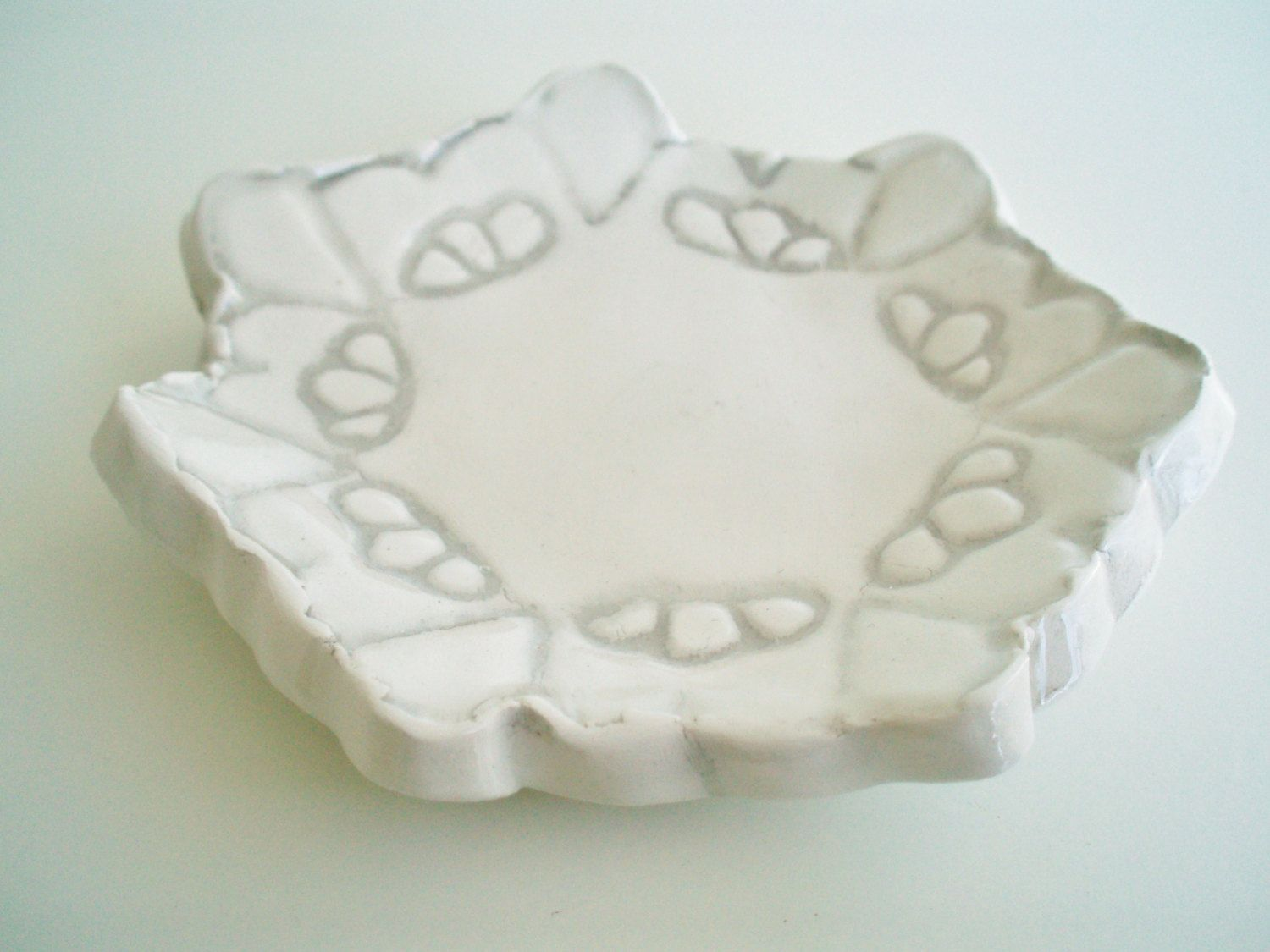 engagement Fused glass dish with silver leaf hearts for rings soap trinkets Valentines jewelry