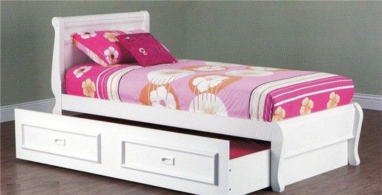 King Single Copenhagen Bed With King Single Teenage Trundle Arctic White Bedroom Furniture Online White Kids Bed Kid Beds