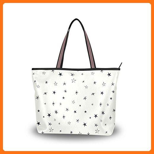 c54d6e96f382 JSTEL Women Large Tote Top Handle Shoulder Bags Retro Constellation ...