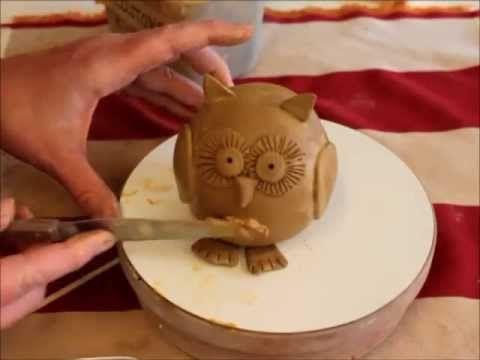 Keramik Eule - YouTube Keramik im Rank Pinterest Keramik - figuren aus ton selber machen