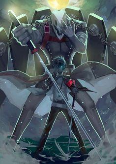 Persona 3 Makoto Yuuki And Thanatos Persona Makotoyuuki Thanatos Cosplayclass Persona 3 Thanatos Persona Anime