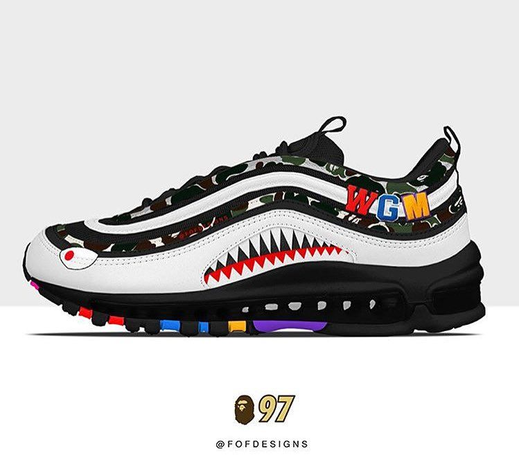 best loved f5329 70654 Air Max 97 x Bape concept | lovesneakernews in 2019 ...
