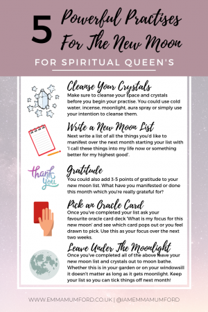 MY NEW MOON RITUAL - EMMA MUMFORD SPIRITUAL QUEEN