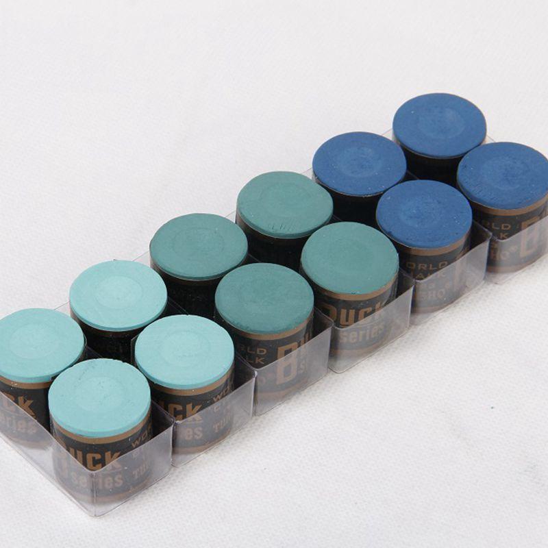 4 Pcs Buck Cylindrical Snooker Billiard Cue Pool Chalk Accessories Blue Dark Green Light Green Affiliate Billiards Light Green Tea Lights