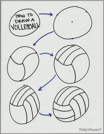 DVF Fitness: How to draw a volleyball (2D and 3D) | Sports ...