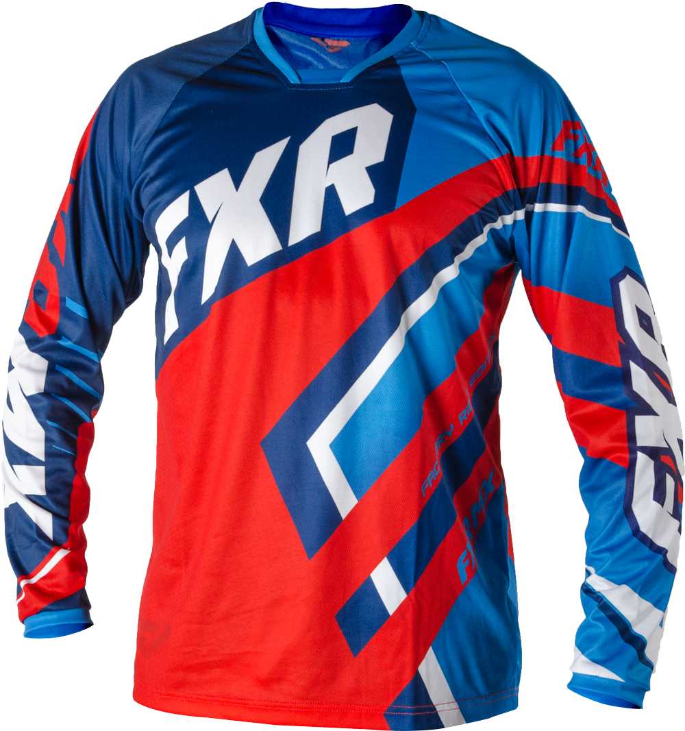Fxr Racing 2015 Mx Apparel Factory Ride Edition Jersey Red Blue Olahraga