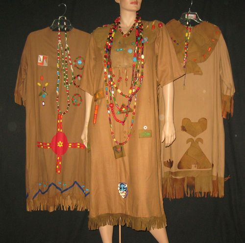 Vintage 1960s Huge Lot of Campfire Ceremonial Gowns Beads Patches 3 Sets | eBay