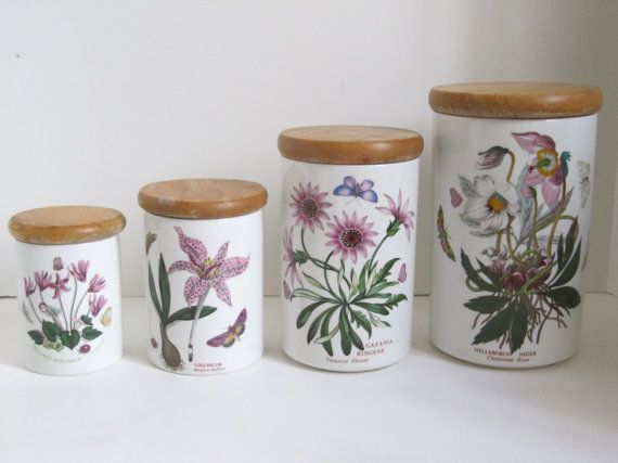 Portmeirion Botanic Garden Canister Set Of 4 By Encoreemporium Collectibles Home