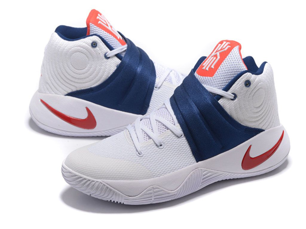 buy online be6e8 5289a Nike Kyrie 2/II Chaussures Nike Basketball Pas Cher Pour Homme Rouge / Blanc  / Bleu
