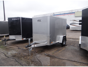 Enclosed Silver Frost 5 X 8 Cargo Trailer By Atc Aluminum Trailer Company Aluminum Trailer Cargo Trailers Custom Trailers