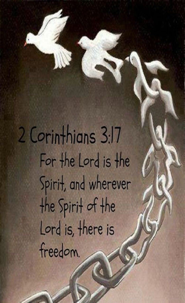 d6740c294607 2 Corinthians 3 17 (NLT) - For the Lord is the Spirit