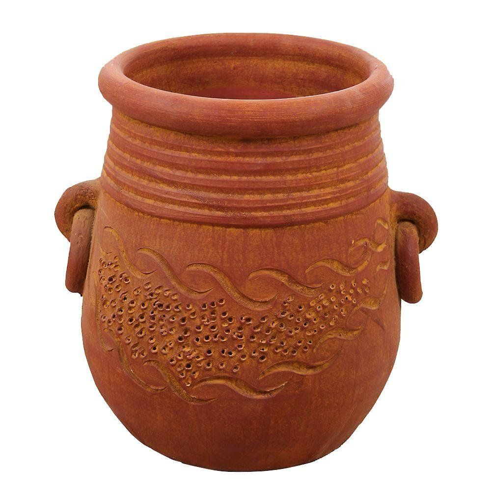 Large Round Terra Cotta Mao Clay Pot Planter With Handles