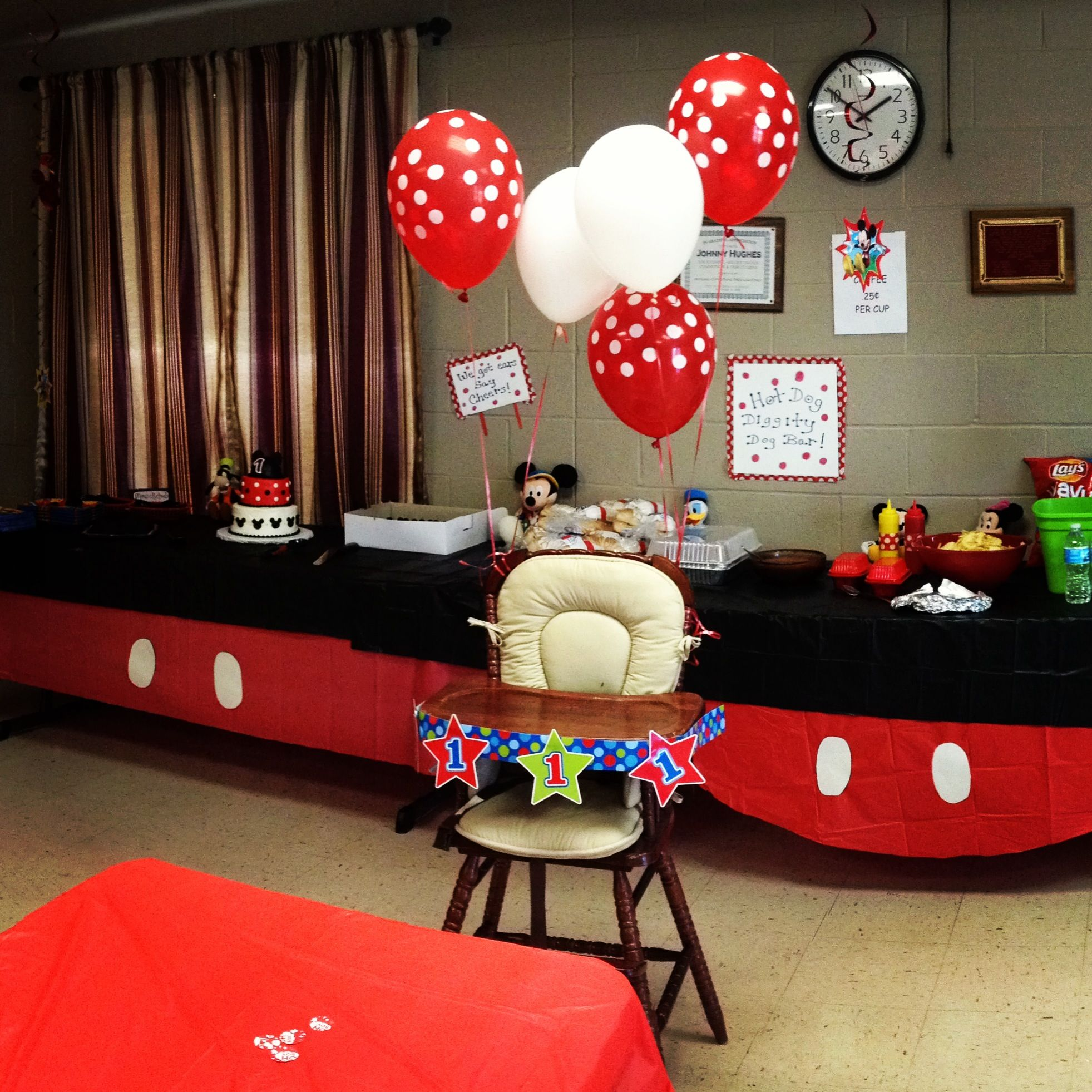 1st Birthday Mickey Mouse Themed 1st Birthday Ideas Pinterest