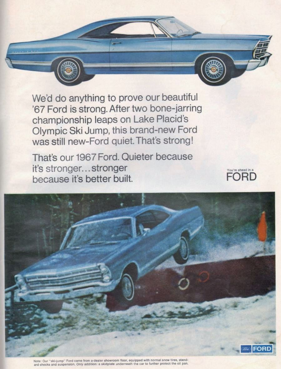Great ad from 1967, featuring the Galaxie 500 fastback.