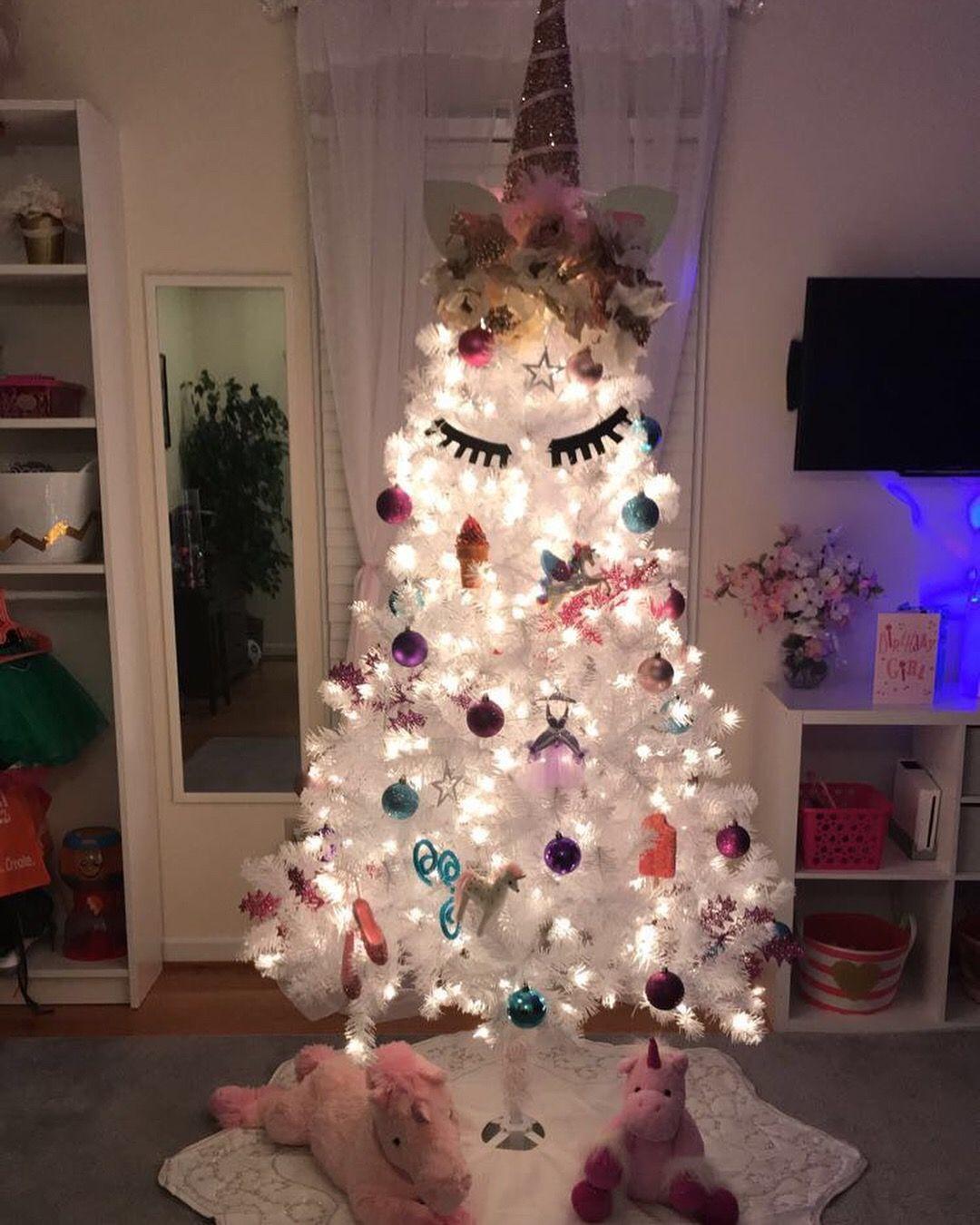 In A Field Of Horses Be A Unicorn Mermaid Christmas Tree Mermaid Christmas Christmas Unicorn