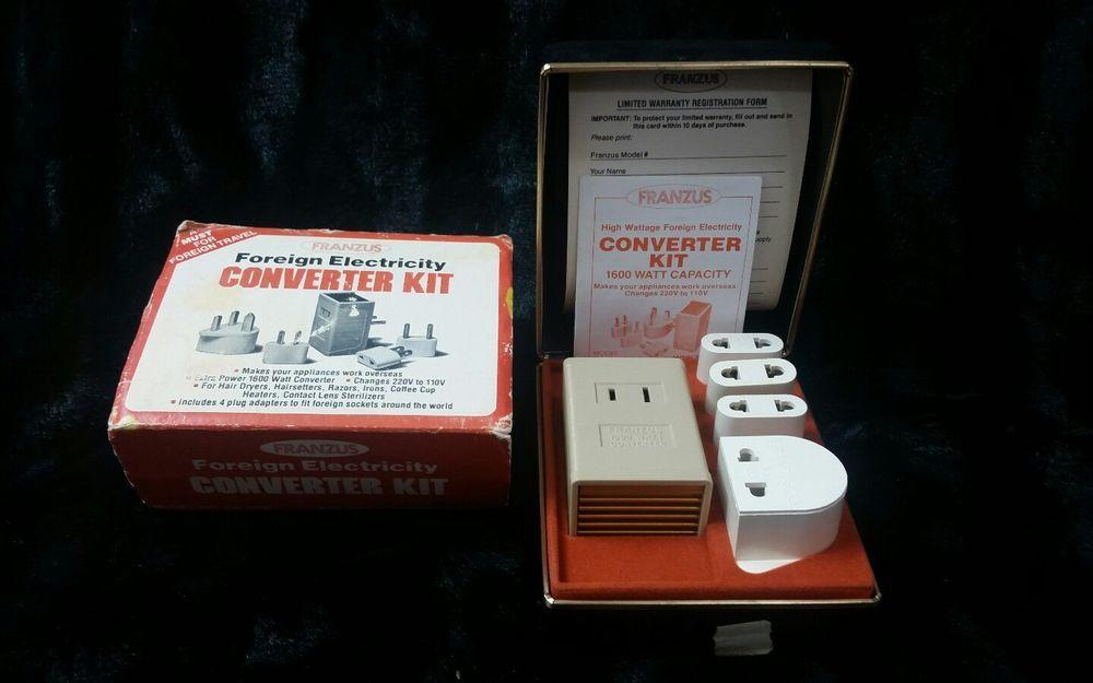 Franzus 1600 Watt Foreign Electricity Converter Kit Adapter Plugs Franzus Adapter Plug Converter Electricity