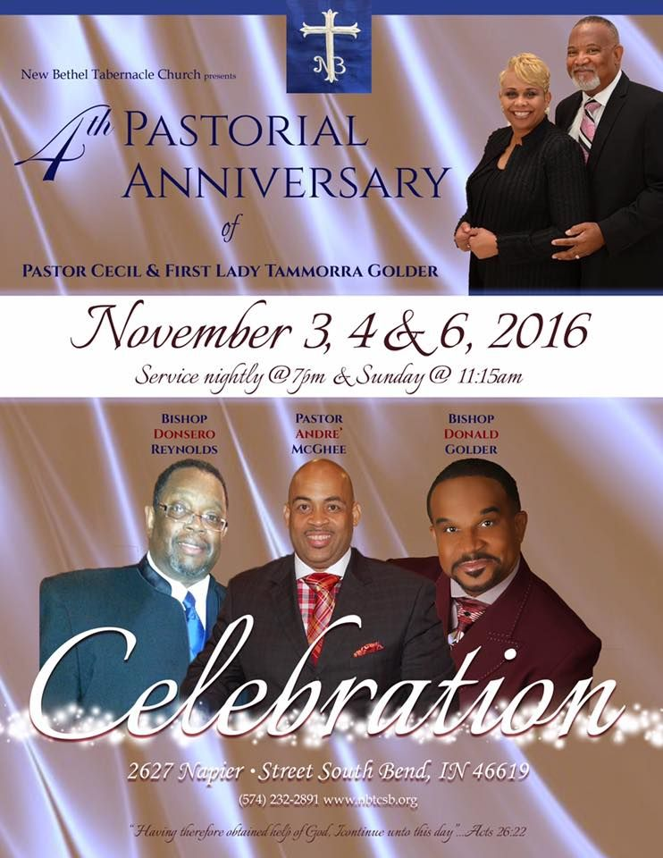 New Bethel Tabernacle Church 4th Pastoral Anniversary of