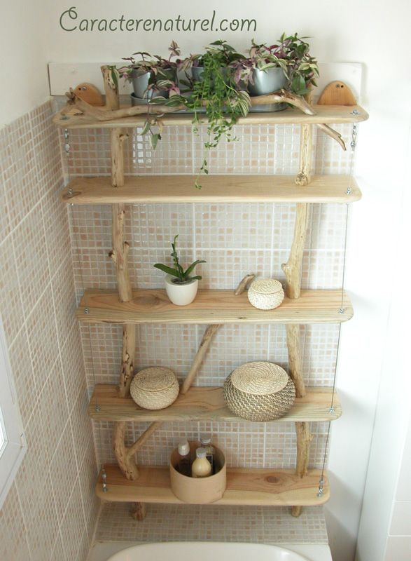 etag re en bois flott 3 bois flott pinterest tag re en bois flott tag res en bois et. Black Bedroom Furniture Sets. Home Design Ideas