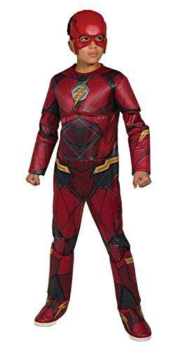 Attractive Justice League Childu0027s Deluxe Flash Costume, Small Rubieu0027s