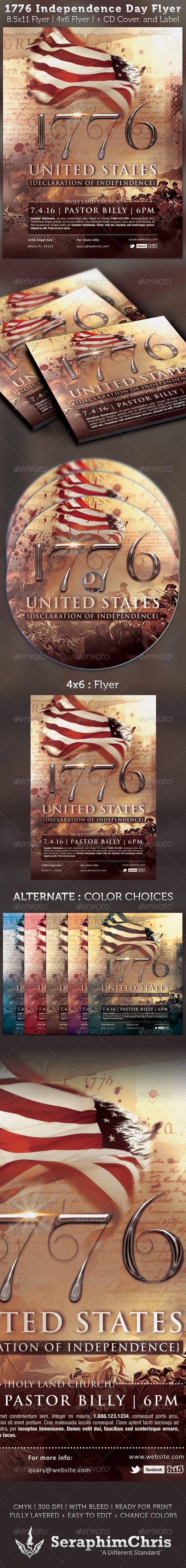 Independence Day Flyer  Cd Artwork Template  Cd Artwork
