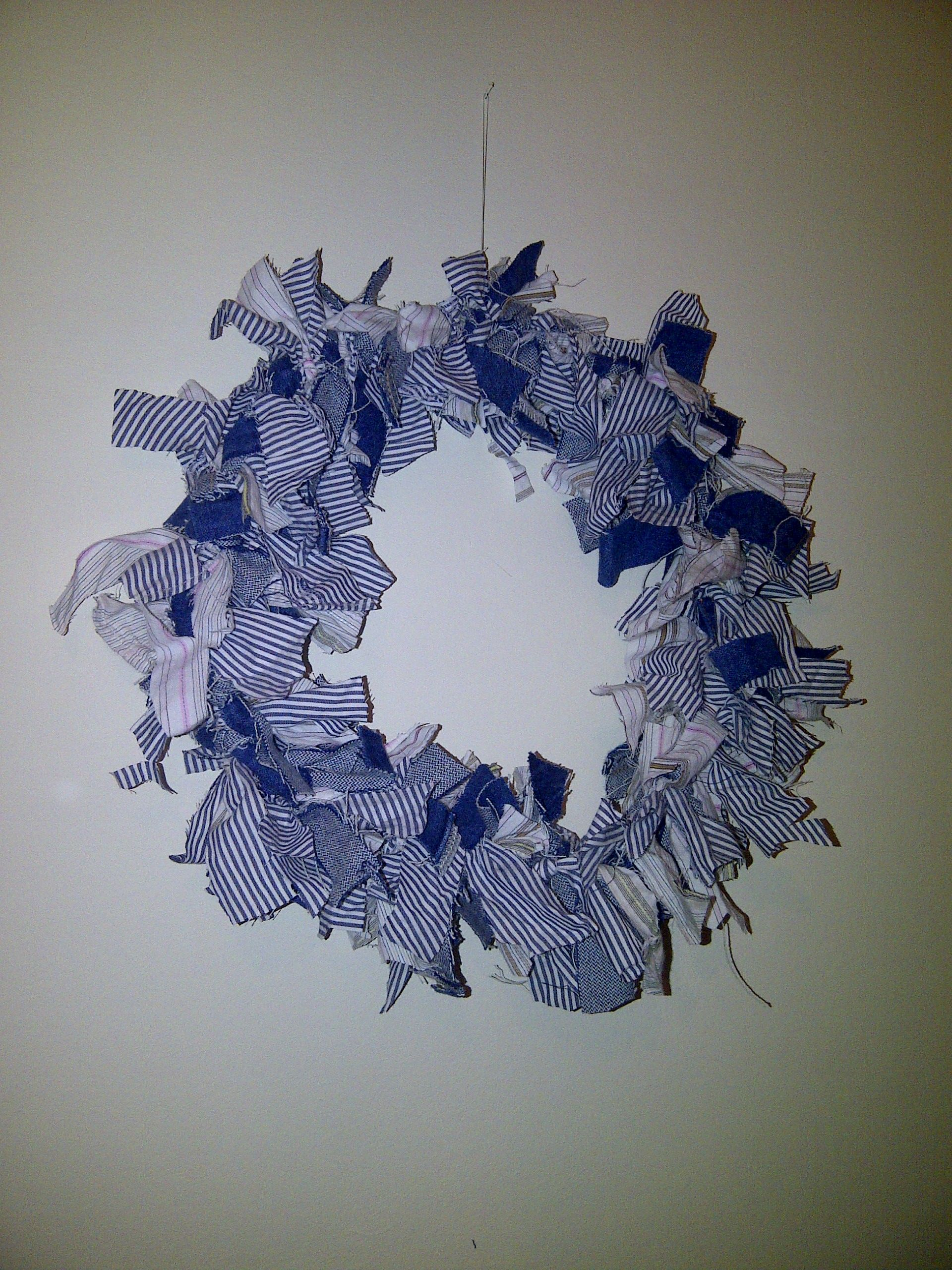 Nautical chic raggy wreath wall art for any room, one of my personal fave pieces