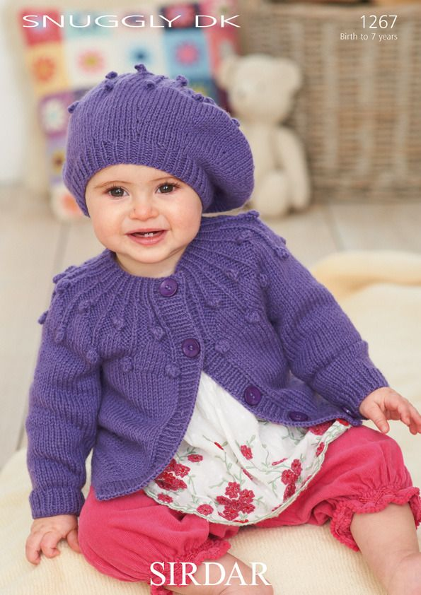 Hat and Cardigan in Sirdar Snuggly DK - 1267 | jacke | Pinterest ...