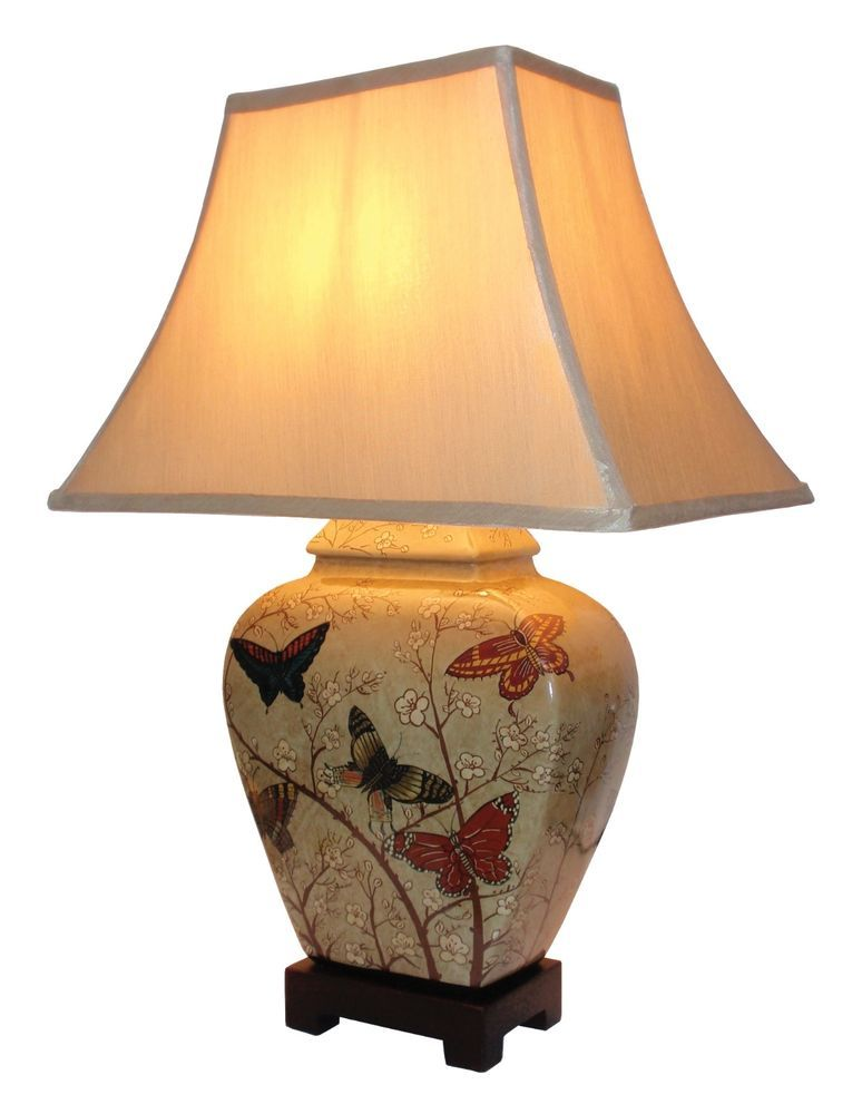 Large Oriental Ceramic Table Lamp M8844 Chinese Mandarin Style For Any Room