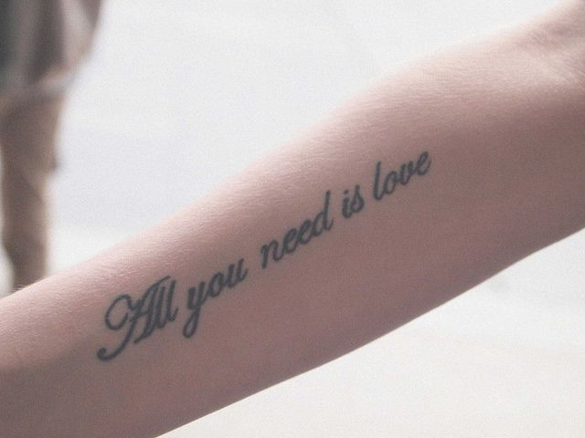 All You Need Is Love Love Tattoos Handwriting Tattoos Love Tatto