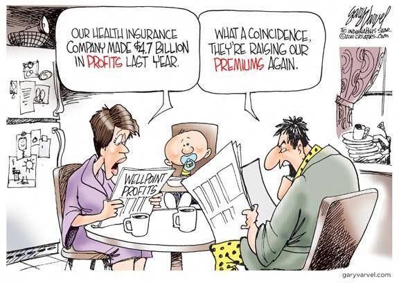 Our health insurance company made $4.7 billion in profits ...