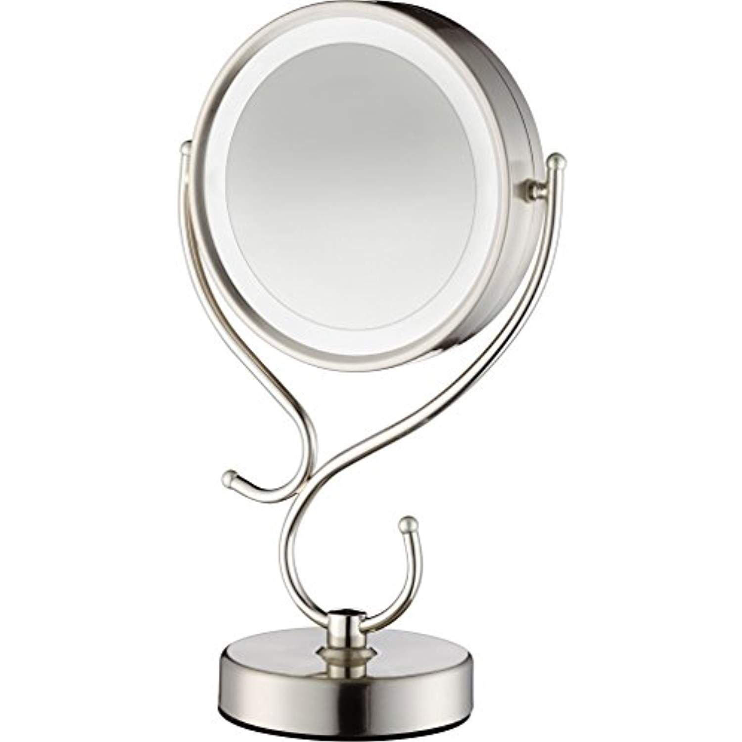 Conair Round Shaped Led Double Sided Lighted Makeup Mirror With 3 Way Touch Control And Built In Ubs Port Cli Makeup Mirror With Lights Mirror Makeup Mirror